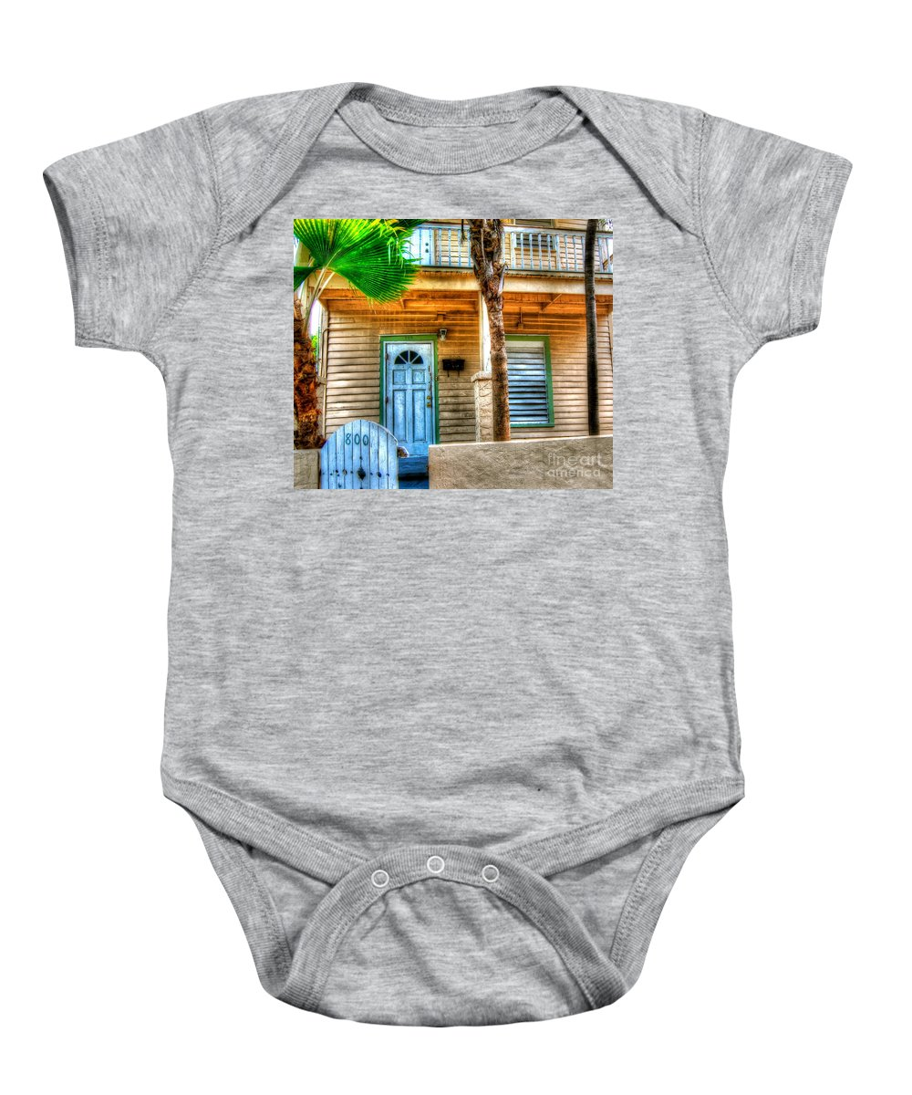 House Baby Onesie featuring the photograph Palm House by Debbi Granruth