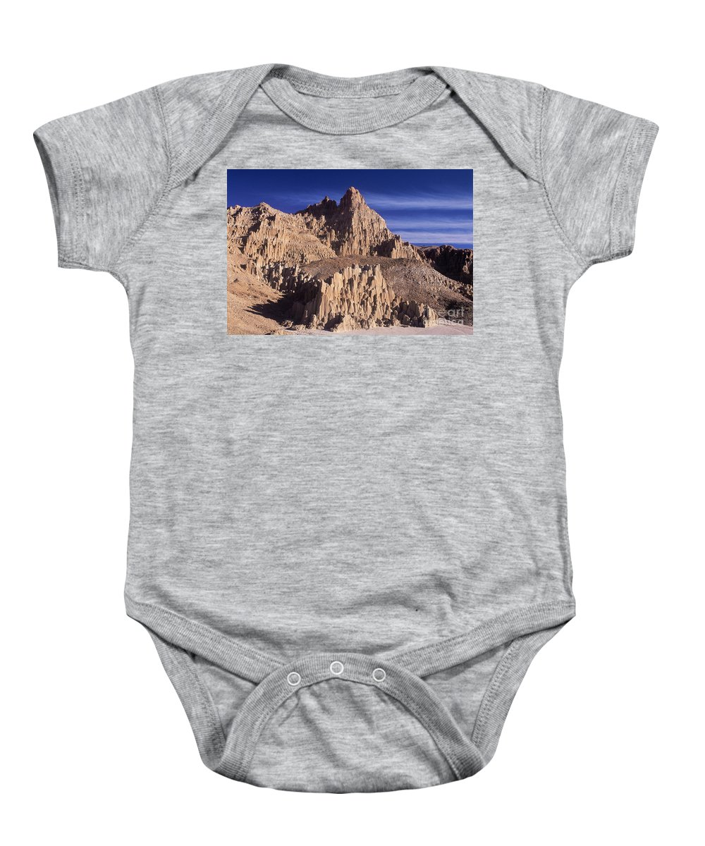 North America Landscape Baby Onesie featuring the photograph Panaca Sandstone Formations Cathedral Gorge State Park Nevada by Dave Welling