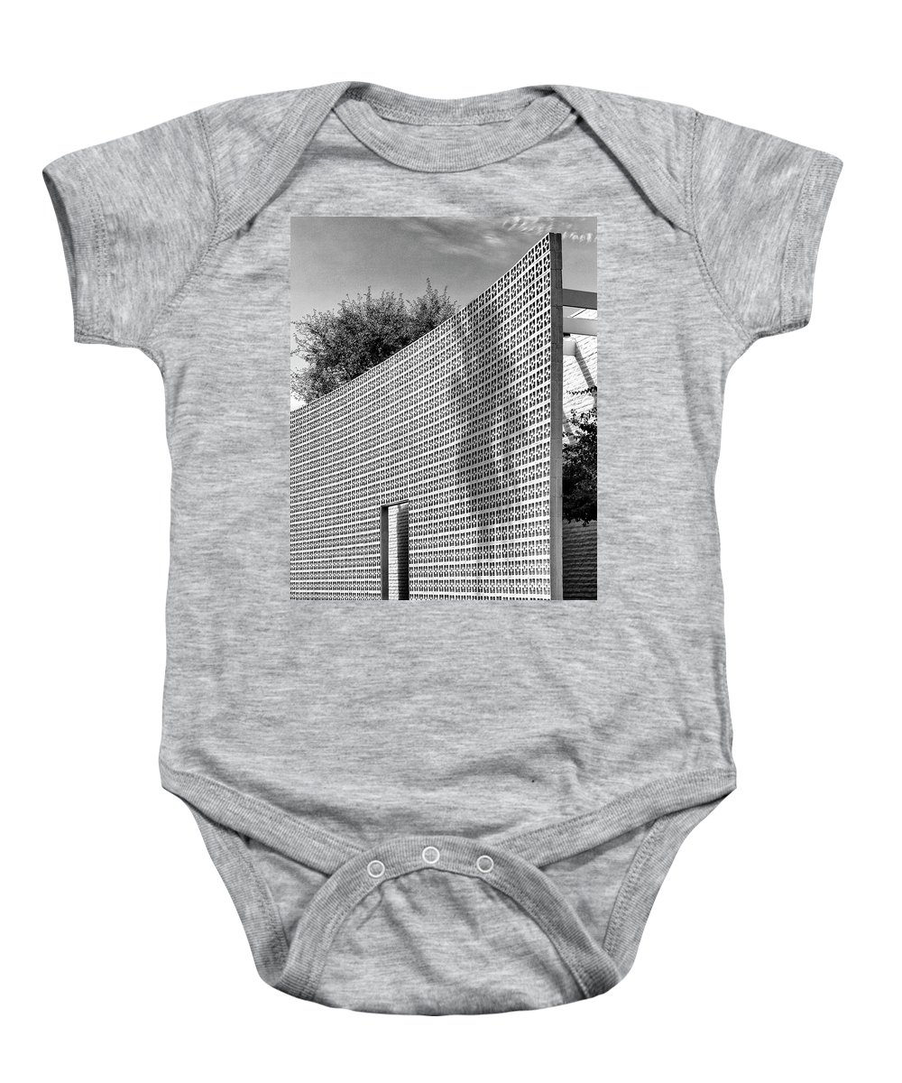 Palm Springs Baby Onesie featuring the photograph Parker Shadow Palm Springs by William Dey