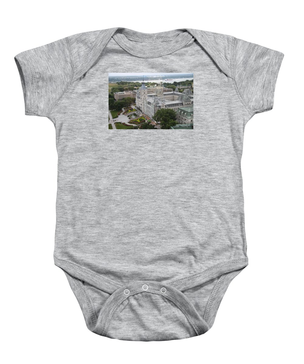 Parlament Baby Onesie featuring the photograph Parlament Quebec by Christiane Schulze Art And Photography