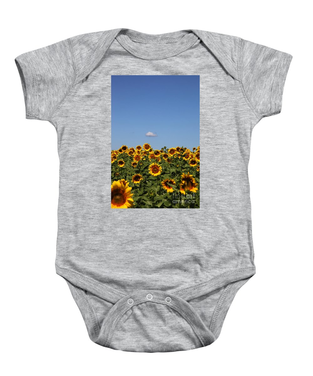 Sunflower Baby Onesie featuring the photograph Passing By by Amanda Barcon