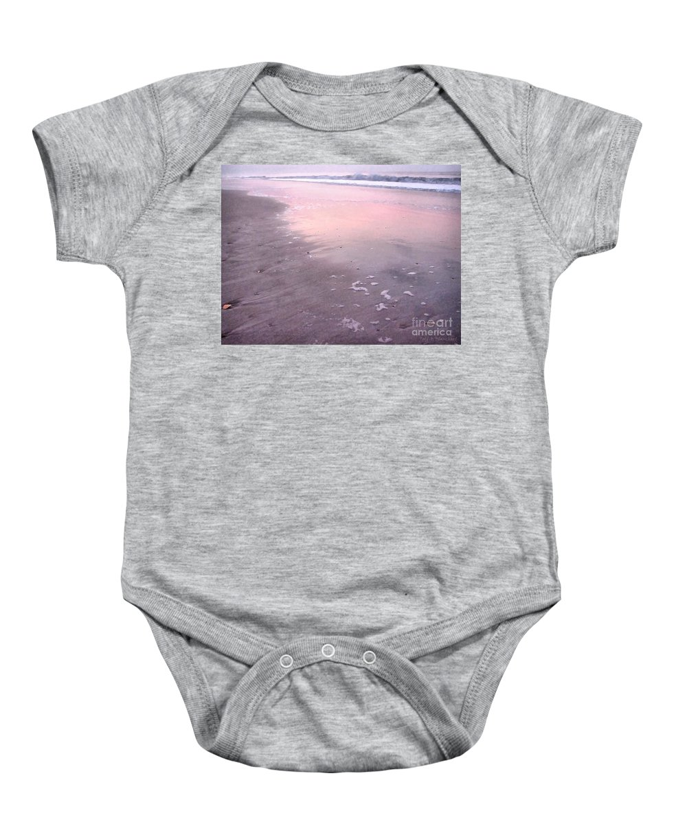 Landscape Baby Onesie featuring the photograph Pastel Beach by Todd A Blanchard