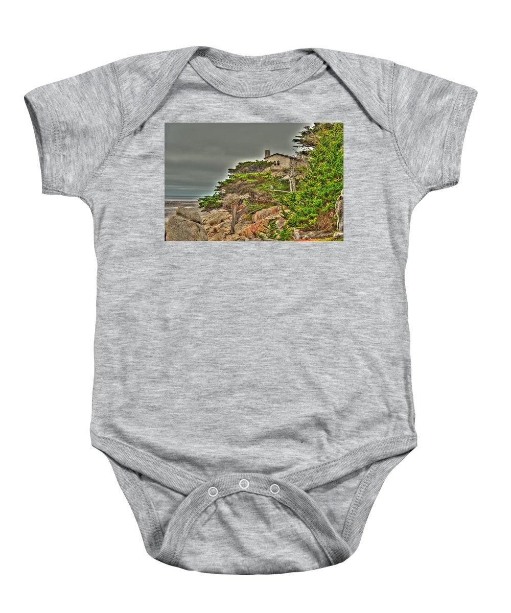 Tree Baby Onesie featuring the photograph Pebble Beach 3 by Richard J Cassato