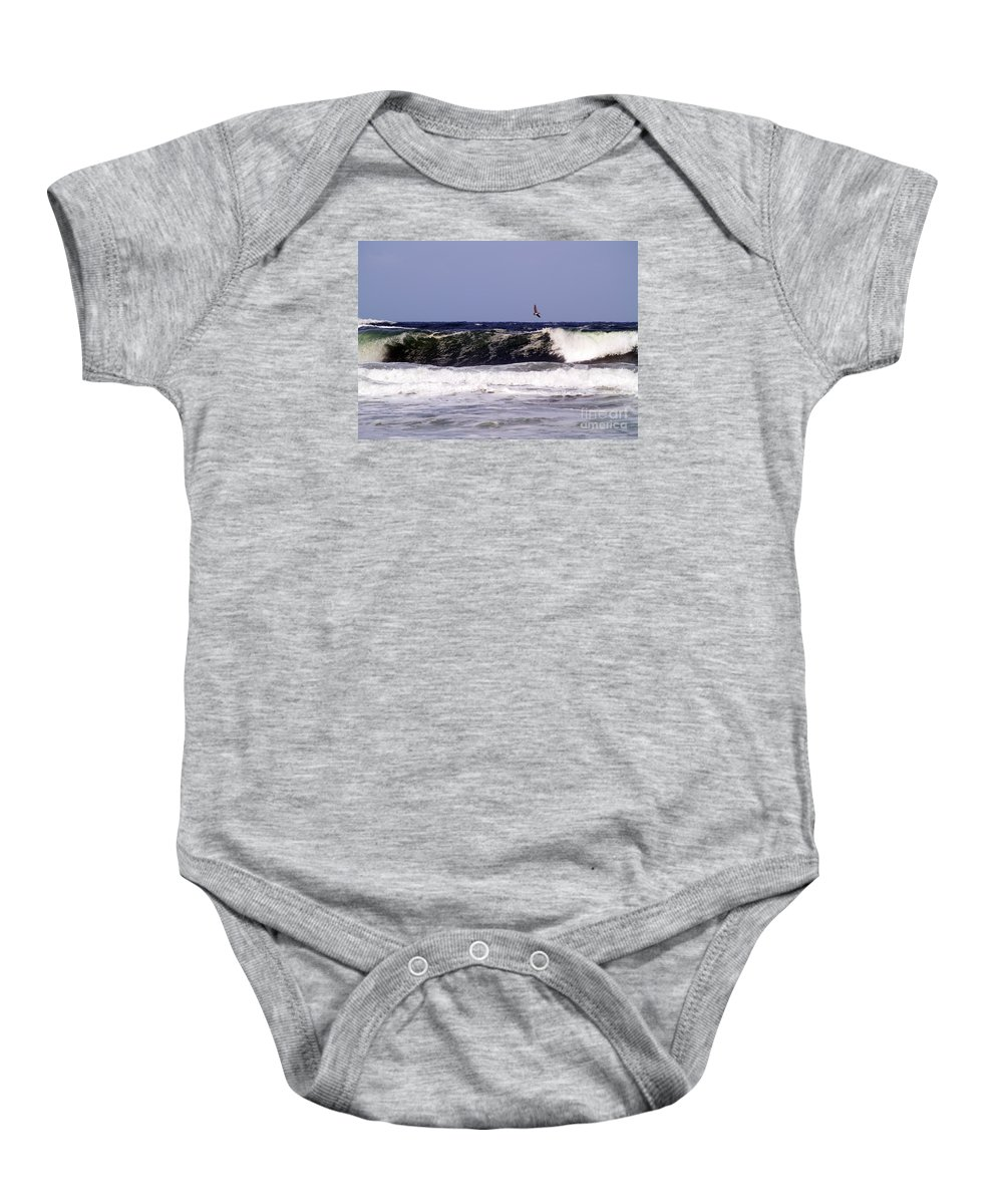 Pelican Photography Baby Onesie featuring the photograph Pelican Sighting II by Patricia Griffin Brett