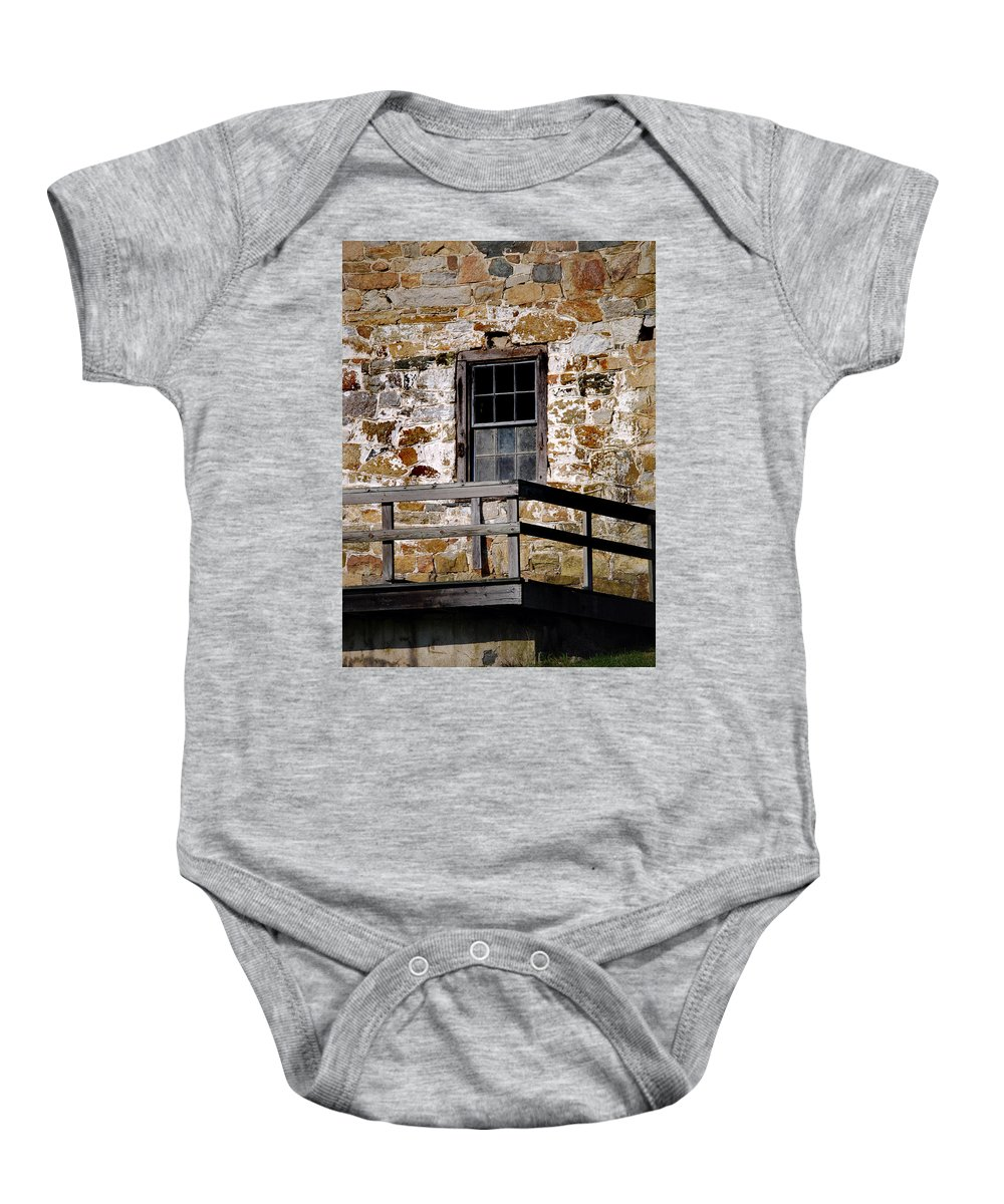 Penna Baby Onesie featuring the photograph Pennsylvania Field Stone by Skip Willits