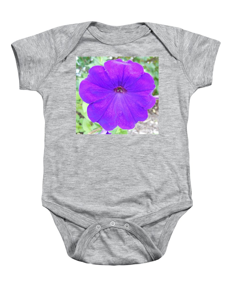 Flowers Baby Onesie featuring the photograph Petunia by Coleen Harty