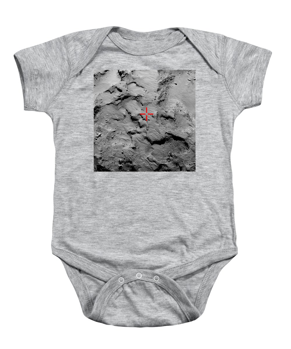 Comet Baby Onesie featuring the photograph Philae Lander Touchdown Point On Comet by Science Source