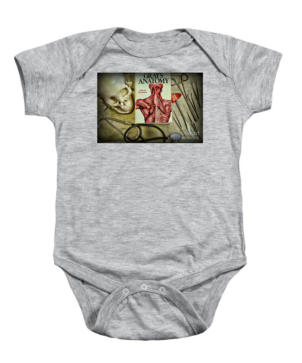 Paul Ward Baby Onesie featuring the photograph Physician - Tools Of The Trade by Paul Ward
