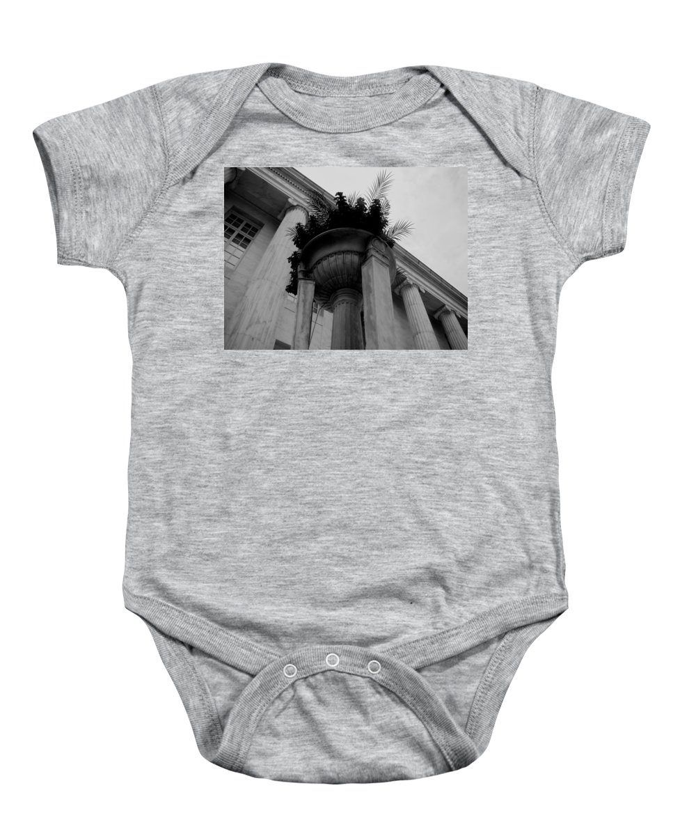 Baby Onesie featuring the photograph Pillars Upon Pillars by Cathy Anderson