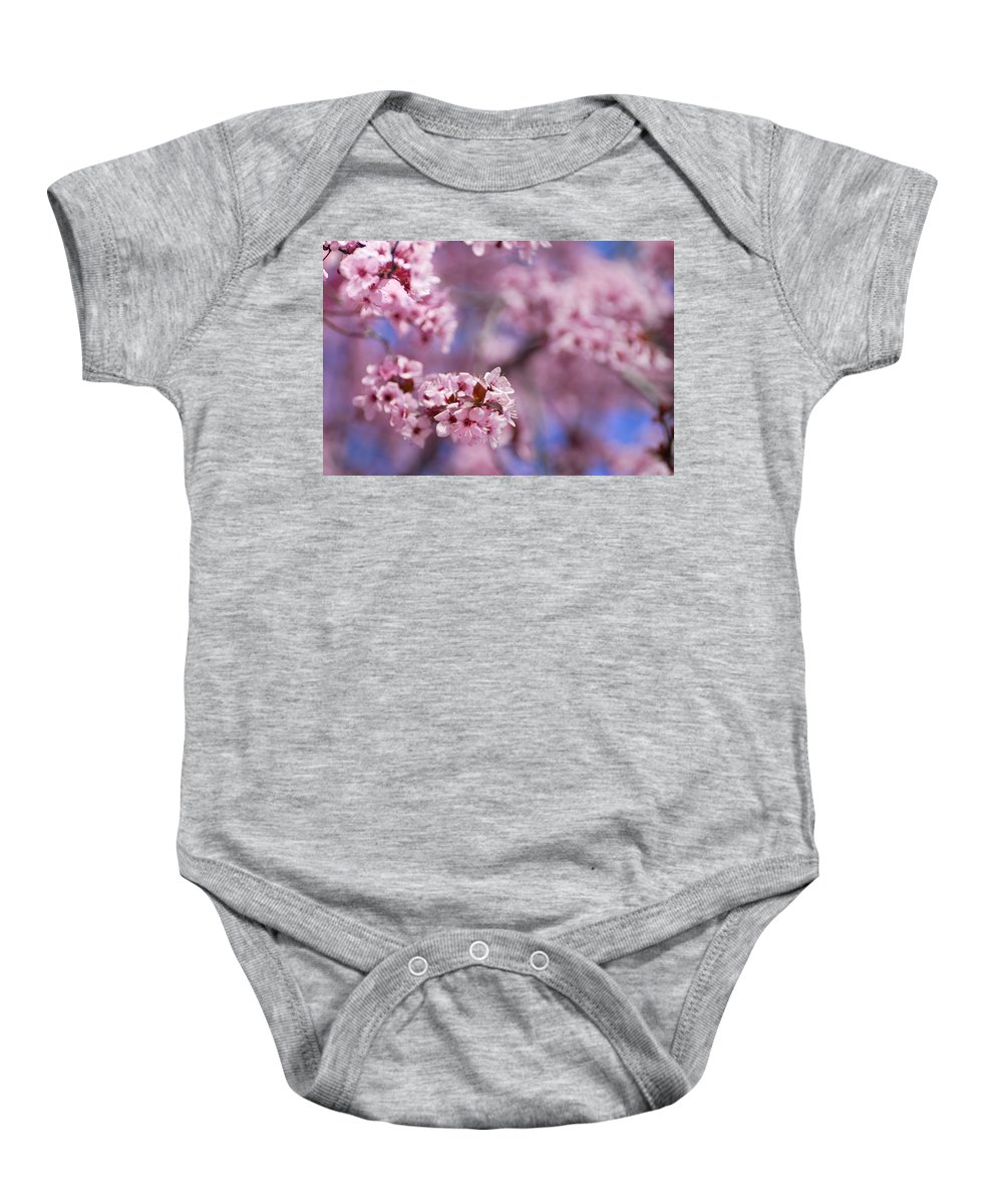 Cherry Baby Onesie featuring the photograph Pink by Guido Montanes Castillo