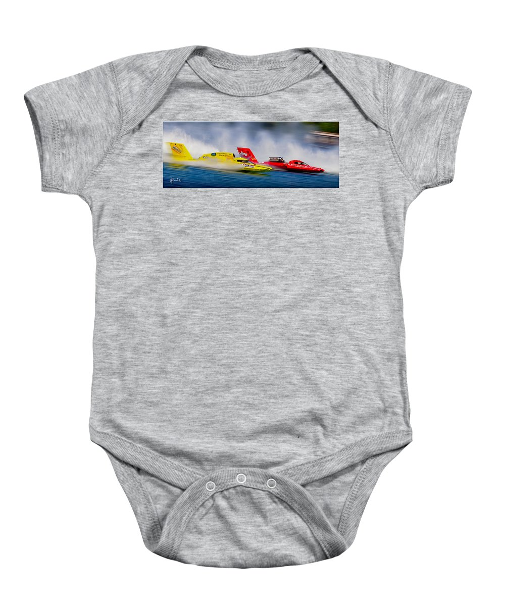 Unlimited Baby Onesie featuring the photograph Piston Power Too by Craig Purdie