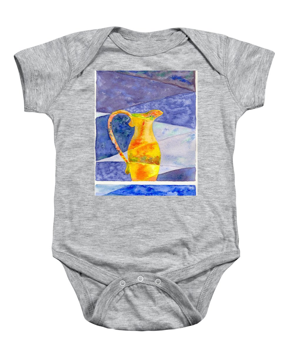 Still Life Baby Onesie featuring the painting Pitcher 1 by Micah Guenther