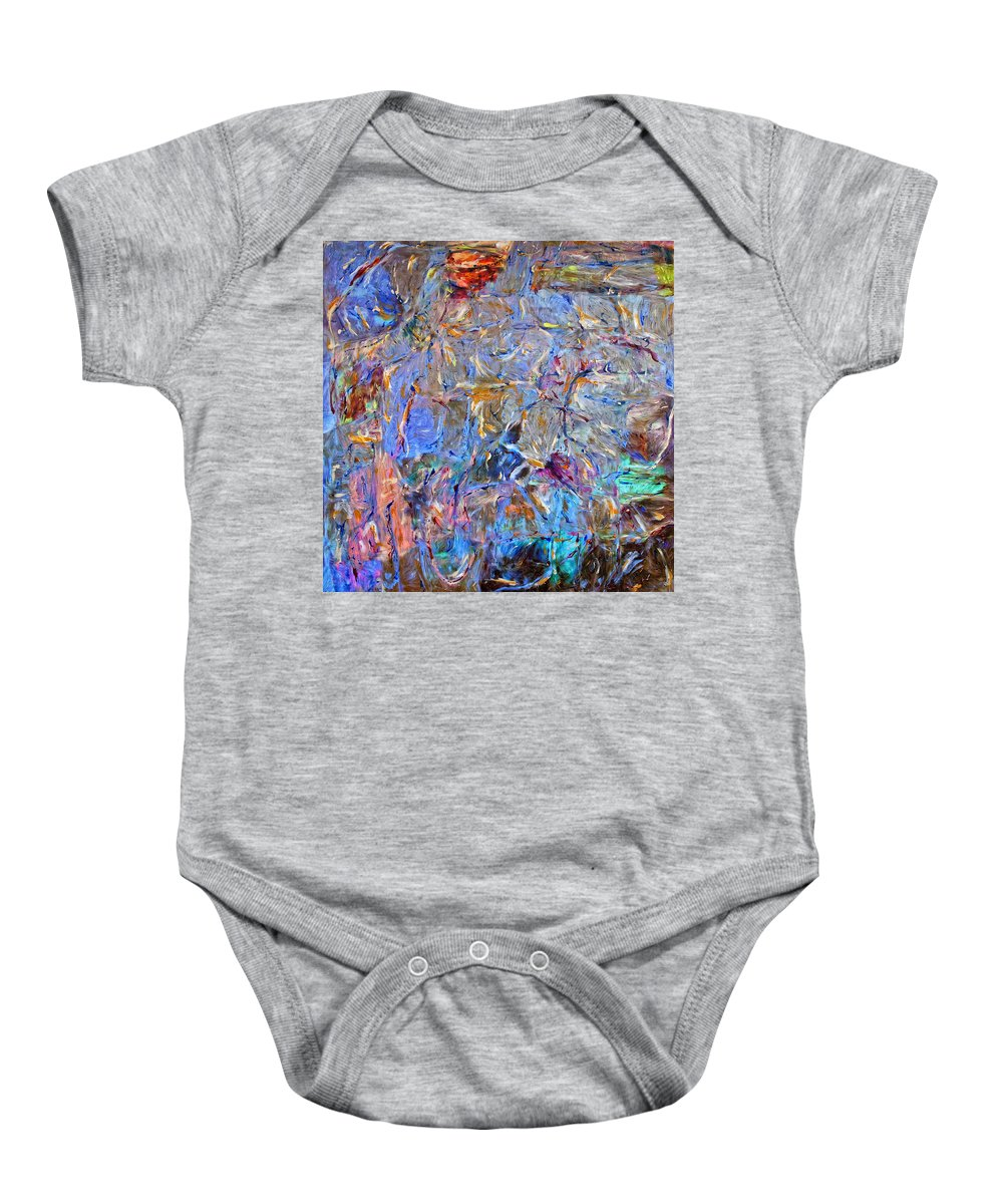 Abstract Baby Onesie featuring the painting Playground by Dominic Piperata