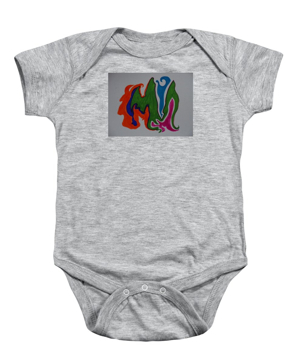 Cosmos Baby Onesie featuring the mixed media Pleiades by James Welch