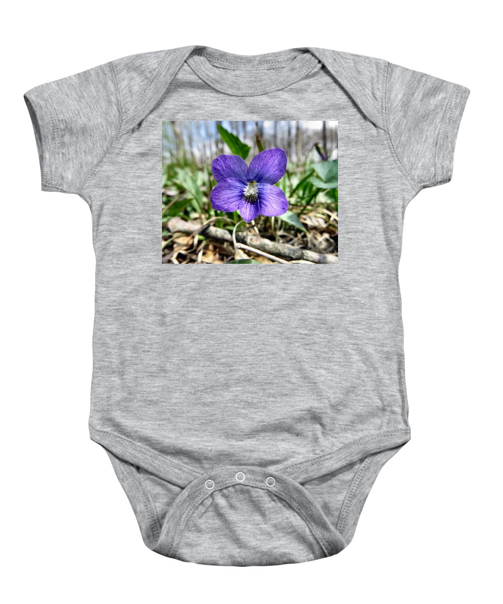 Purple Baby Onesie featuring the photograph Plumb Wildflowers by Art Dingo