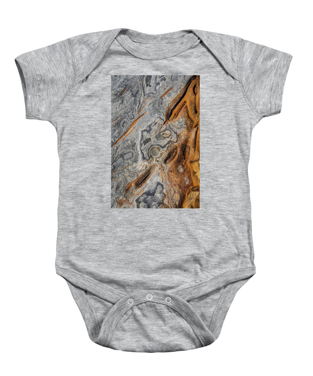 Copyrighted Baby Onesie featuring the photograph Point Lobos Abstract 4 by Mike Penney