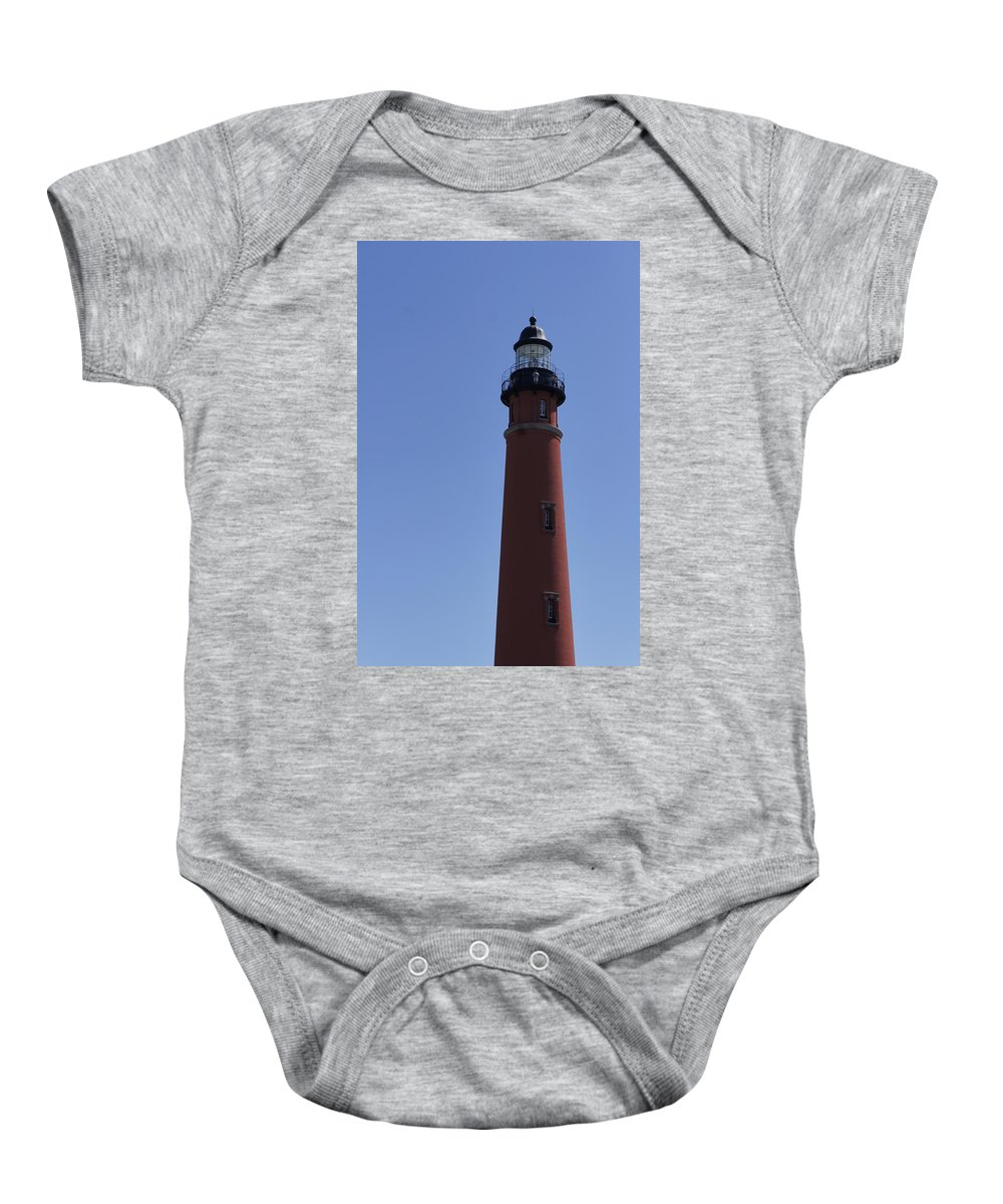 Tall Baby Onesie featuring the photograph Ponce Inlet Light by Laurie Perry