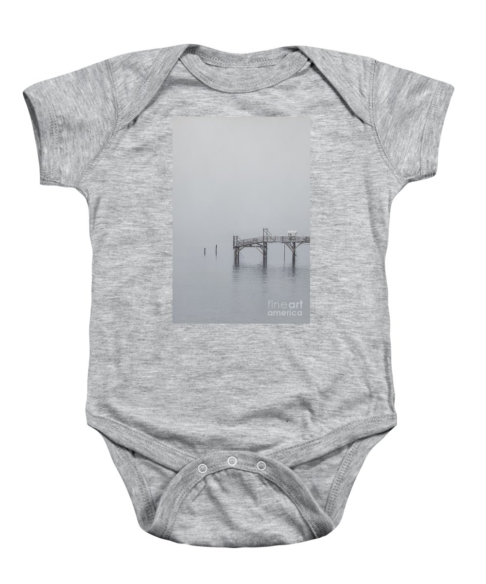 Bar Harbor Baby Onesie featuring the photograph Port Of Mystery by Evelina Kremsdorf