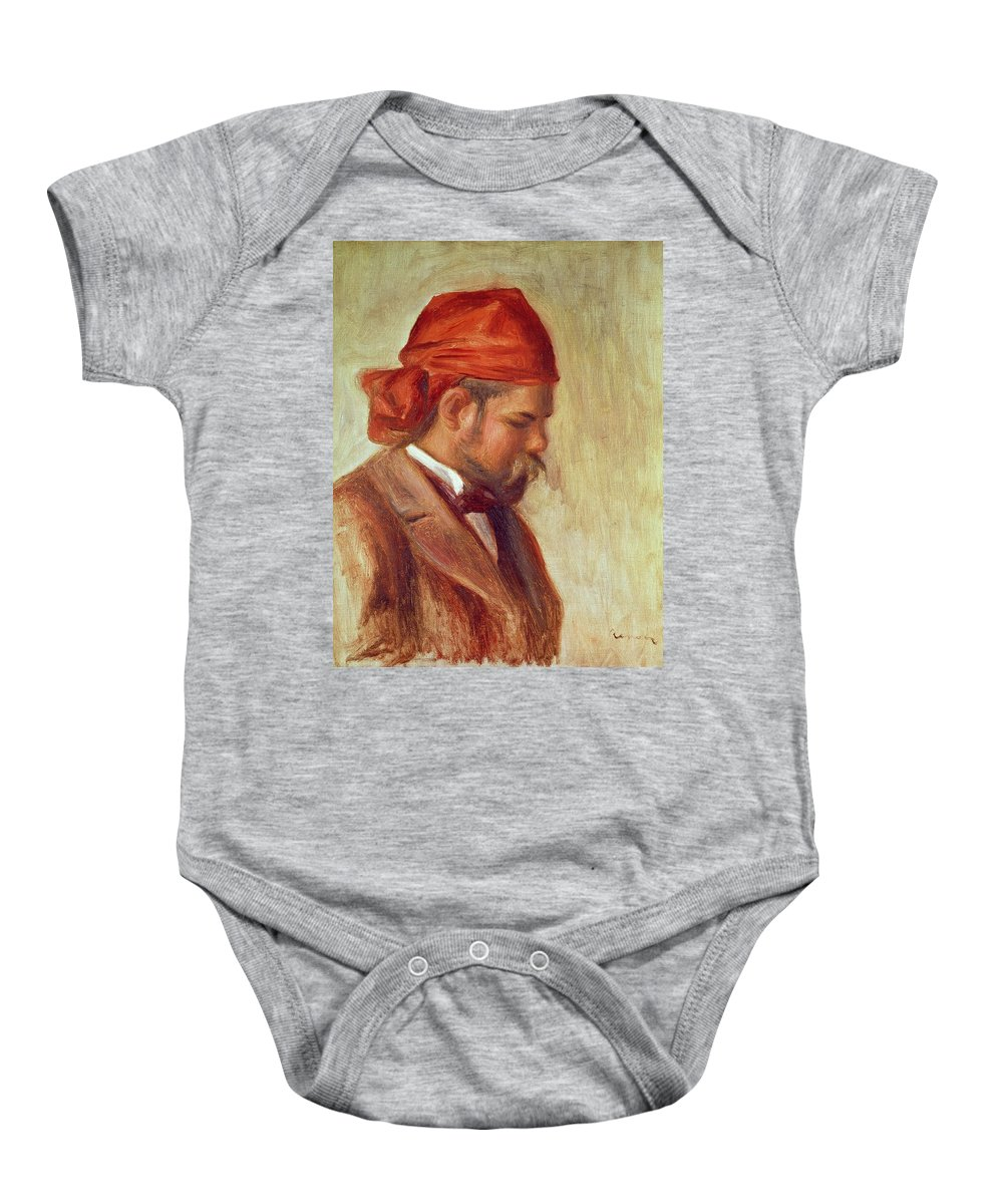 Impressionist Baby Onesie featuring the photograph Portrait Of Ambroise Vollard 1868-1939 Oil On Panel by Pierre Auguste Renoir