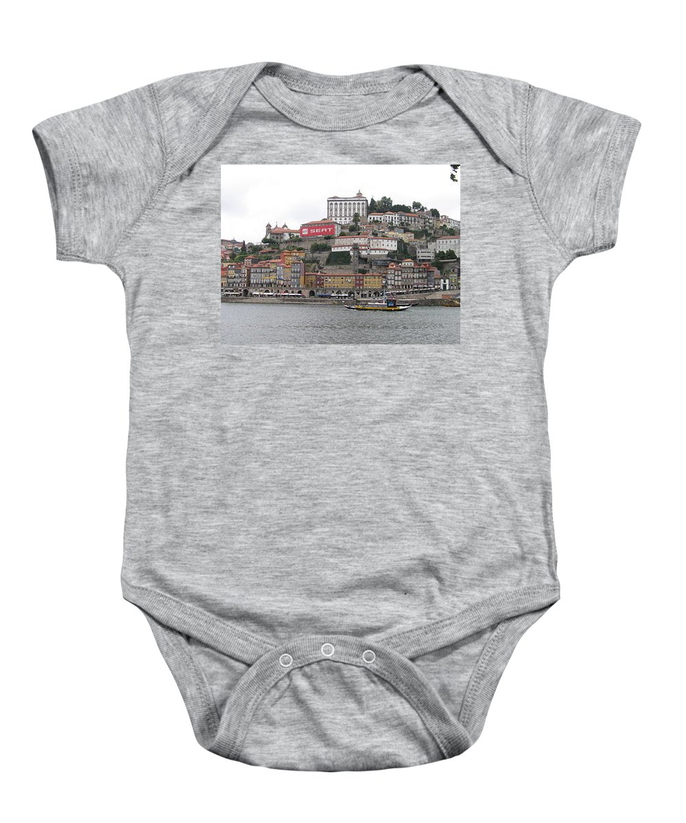 River Scence Baby Onesie featuring the photograph Portugal by Kimberly Maxwell Grantier
