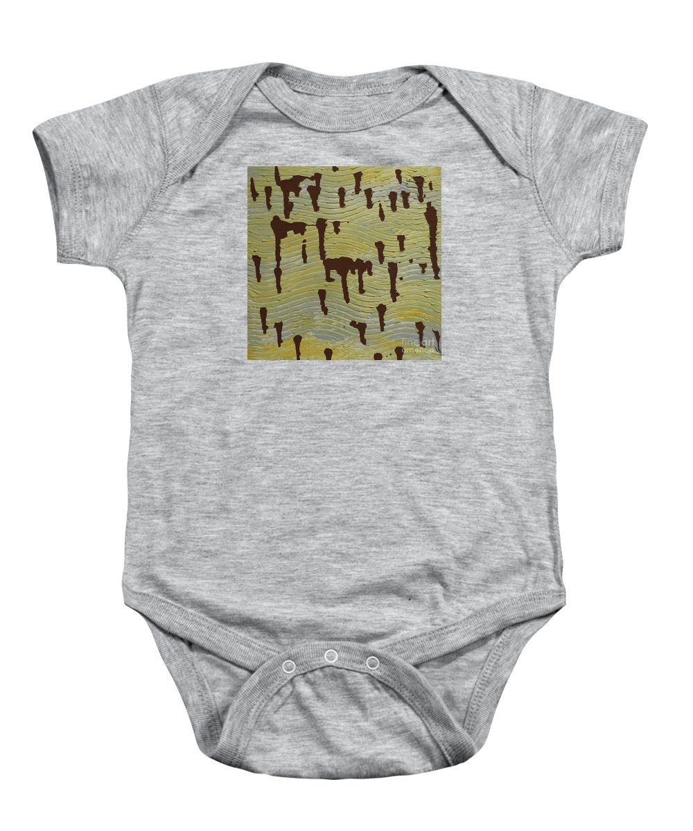 Powerful Wind Baby Onesie featuring the painting Powerful Wind by Elizabeth Harshman