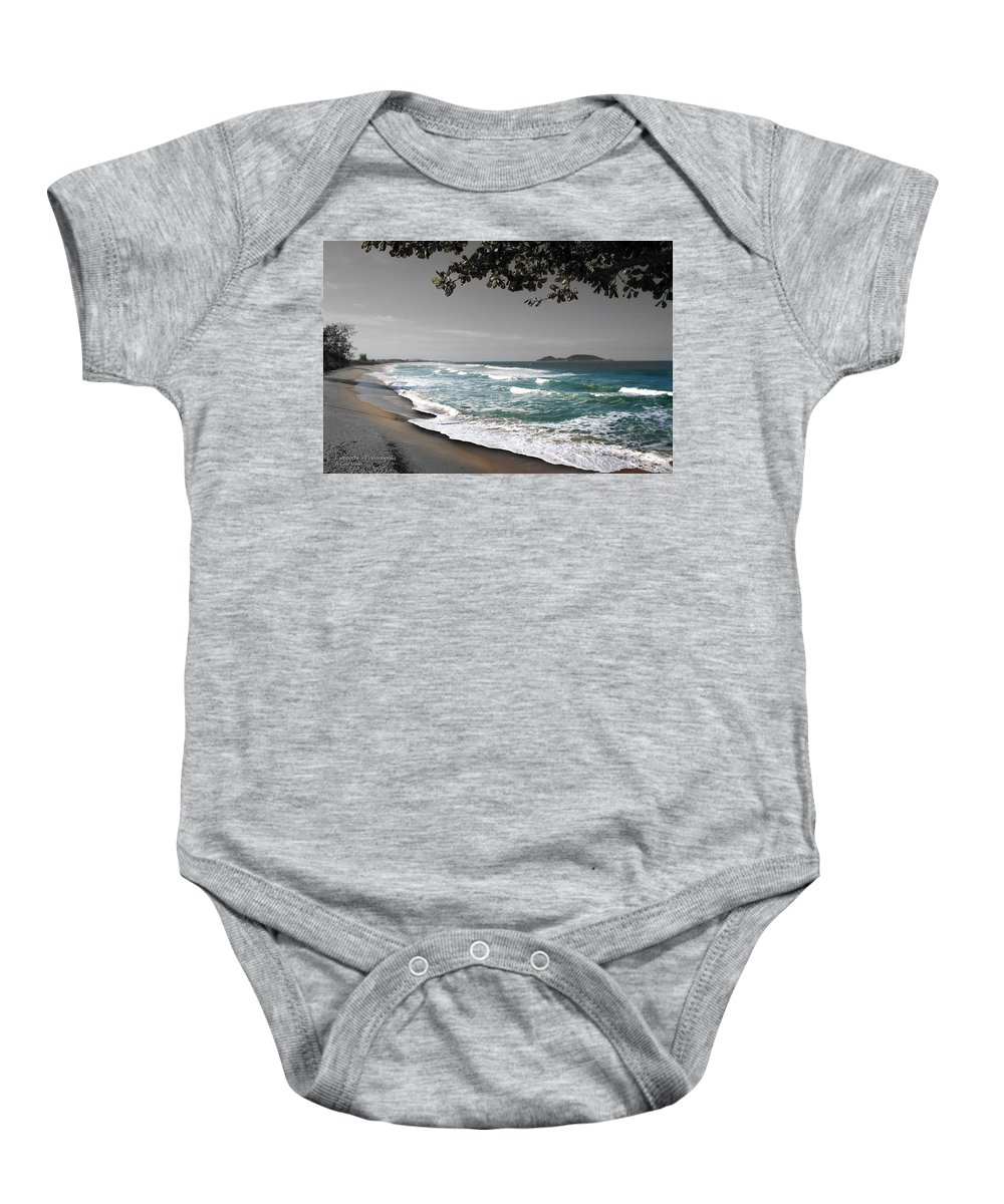Beach Baby Onesie featuring the photograph Praia Campeche by Cesar Moraes