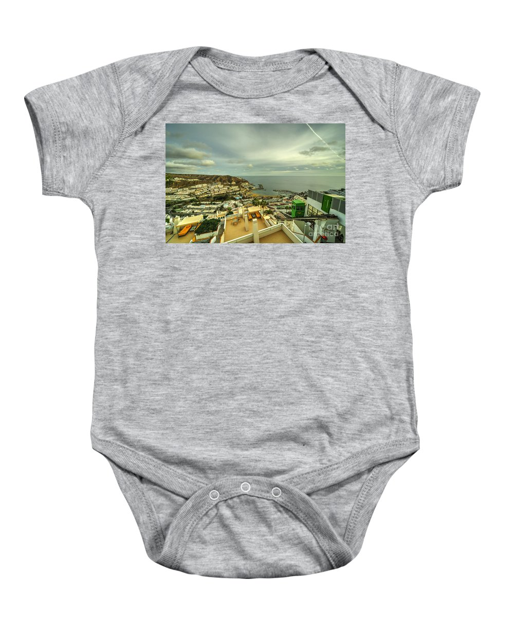 Puerto Baby Onesie featuring the photograph Puerto Rico From Above by Rob Hawkins