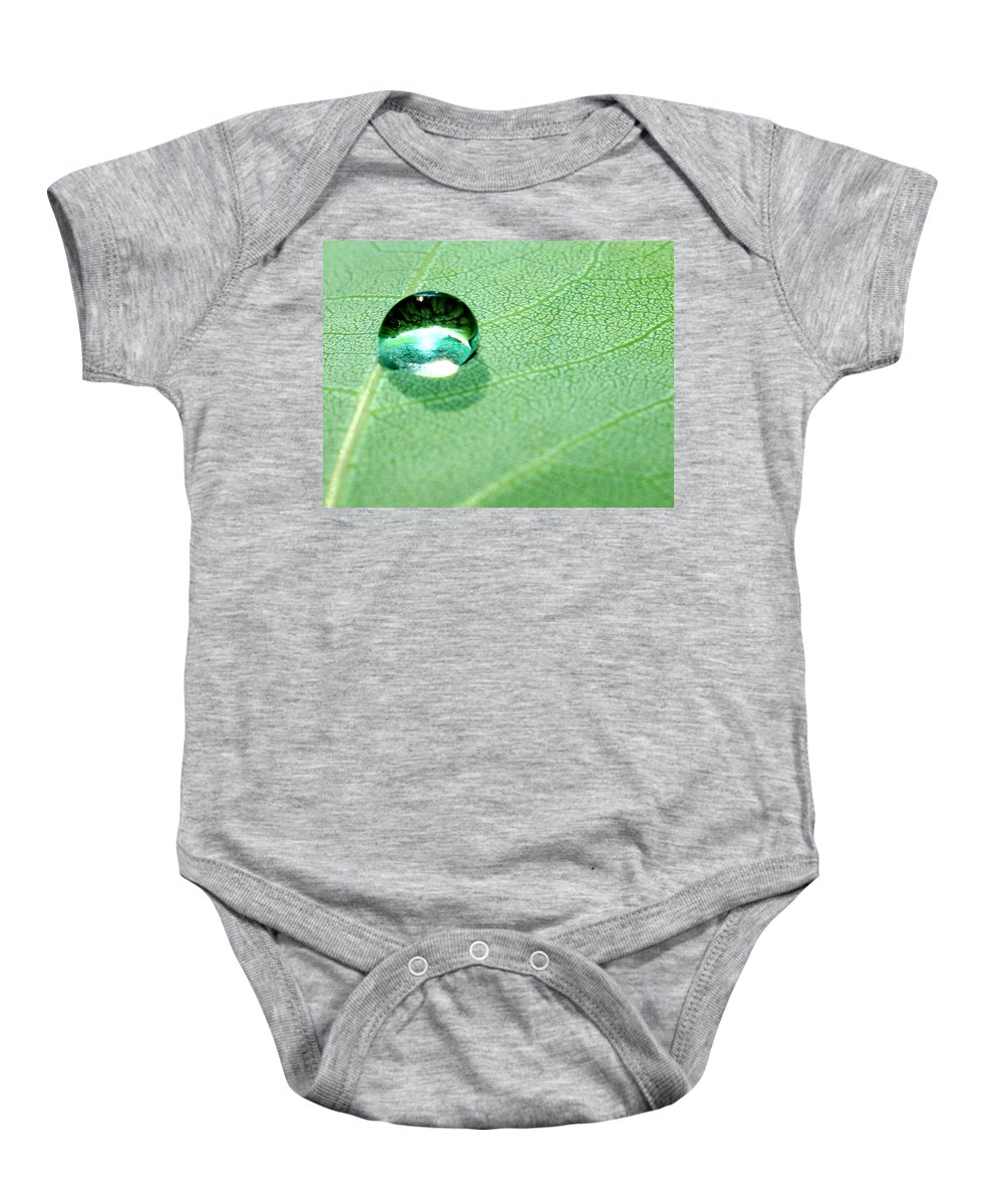 Green Leaf Baby Onesie featuring the photograph Purity Of Nature by Krissy Katsimbras
