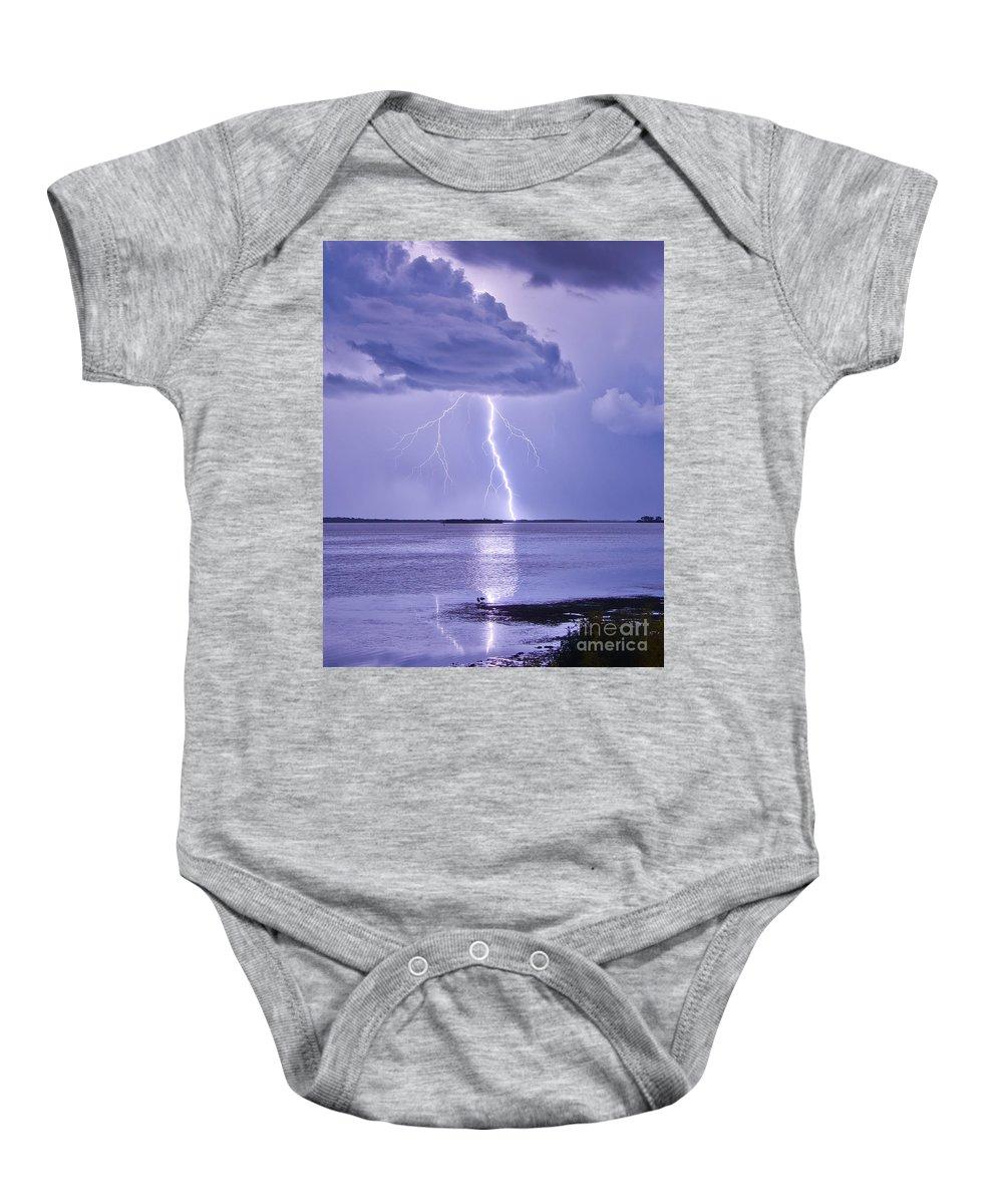 Florida Baby Onesie featuring the photograph Purple Haze by Stephen Whalen