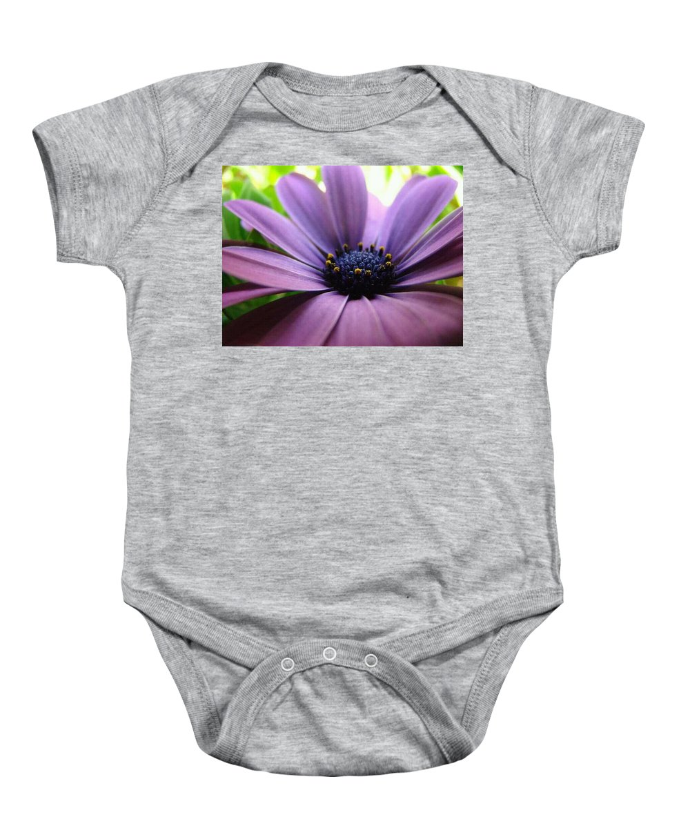 Purple Baby Onesie featuring the photograph Purple Mexican Flower by Michele Monk