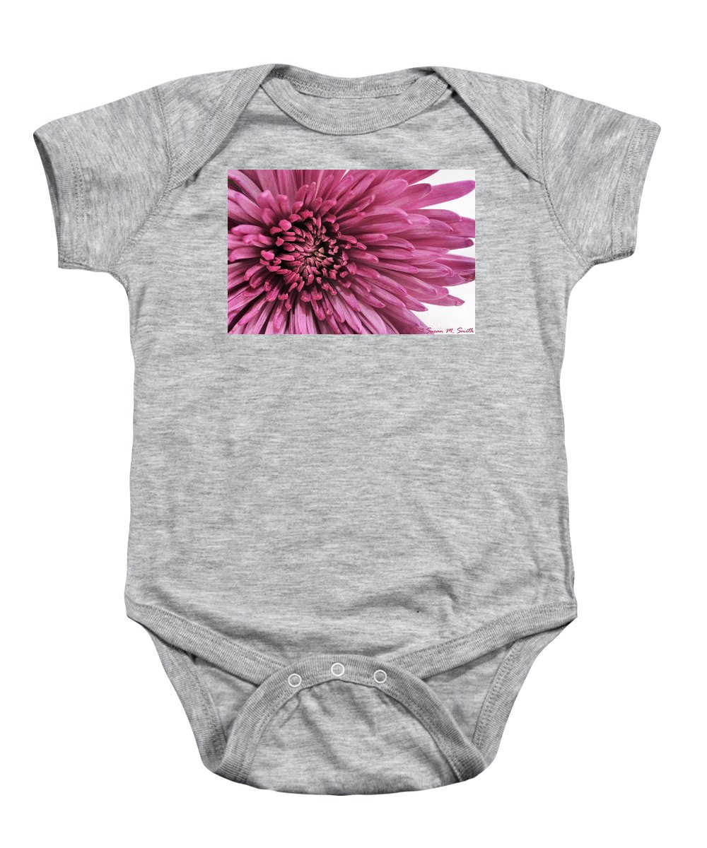 Photography Baby Onesie featuring the photograph Purple Pow by Susan Smith