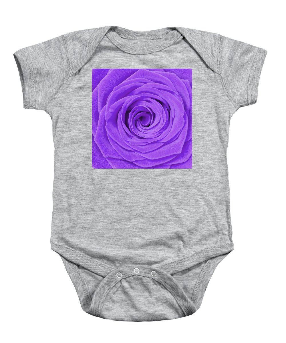 Beauty Baby Onesie featuring the photograph Purple Rose by Semmick Photo