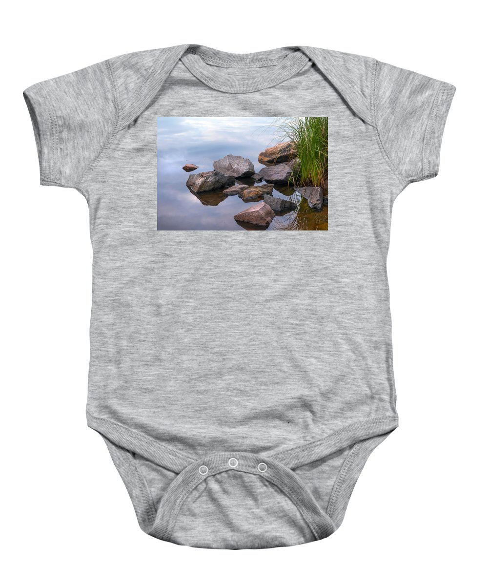 Nature Baby Onesie featuring the photograph Quiet Morning. Ladoga Lake by Jenny Rainbow