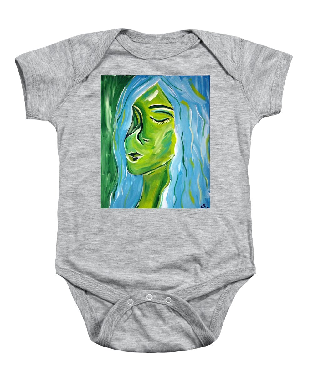 Baby Onesie featuring the painting Rearranged by Kate Hart Nardone