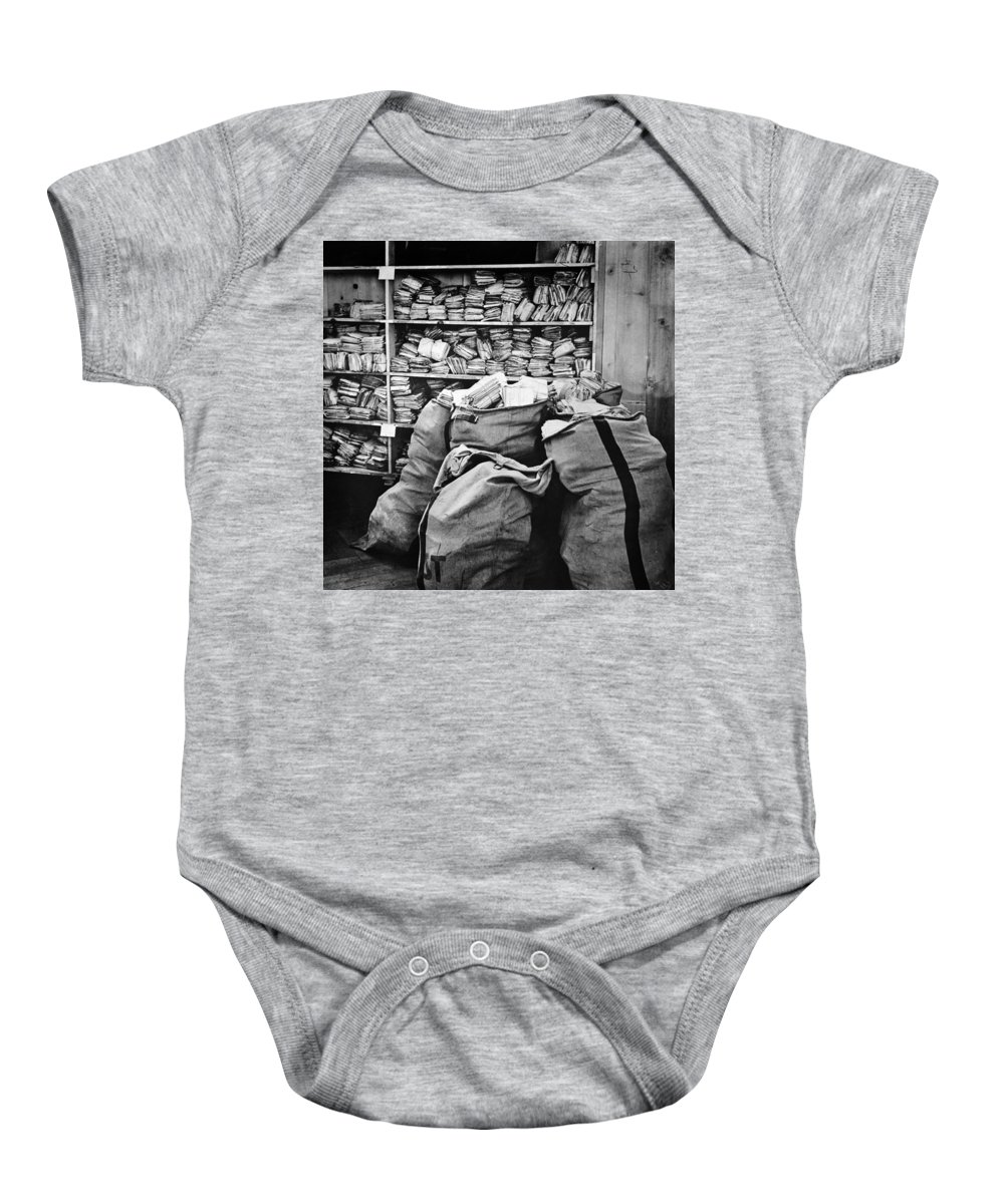 1940 Baby Onesie featuring the photograph Red Cross: Mail, 1940 by Granger