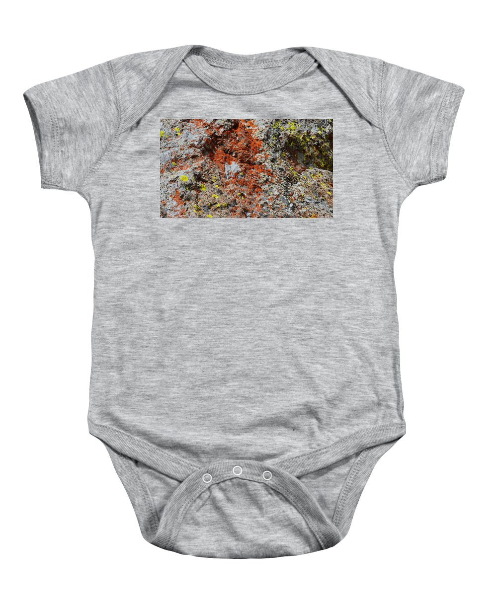 Nature Baby Onesie featuring the photograph Red With Green by Brent Dolliver