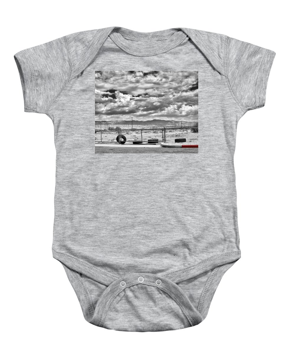 Baby Onesie featuring the photograph Red Zone by William Dey
