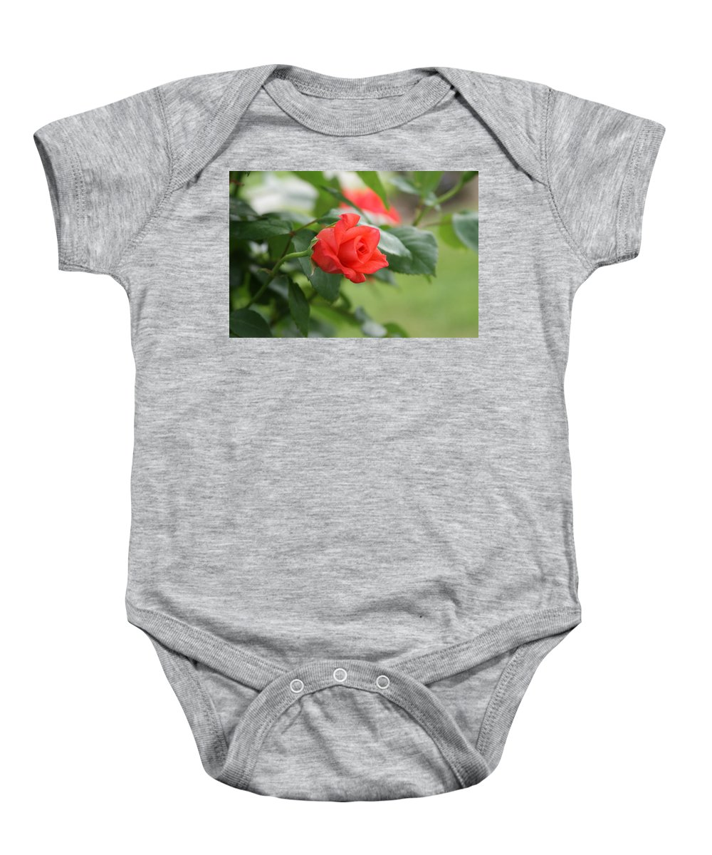 Red Baby Onesie featuring the photograph Redbud by Rob Luzier