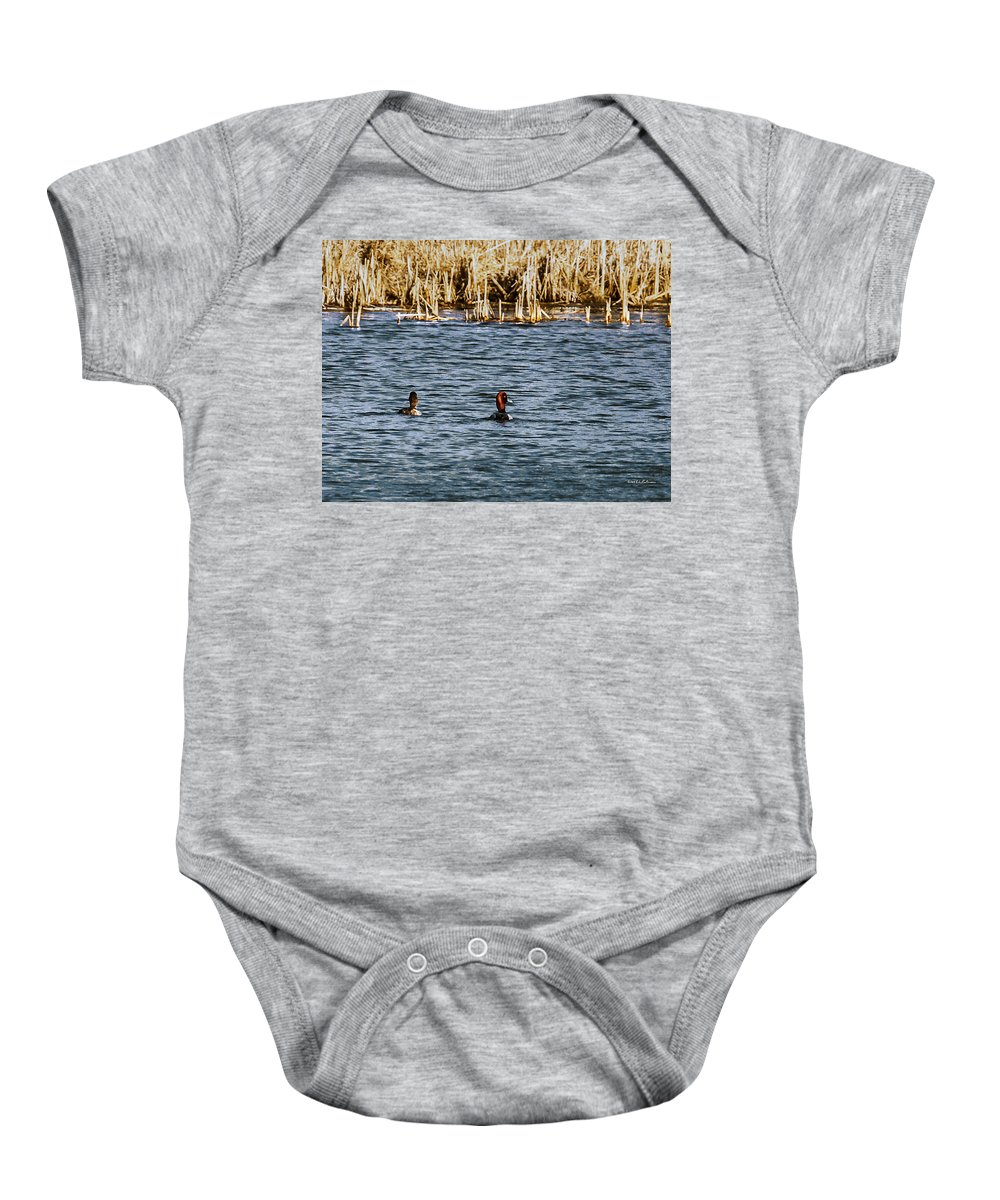 Wildlife Baby Onesie featuring the photograph Redhead by Edward Peterson
