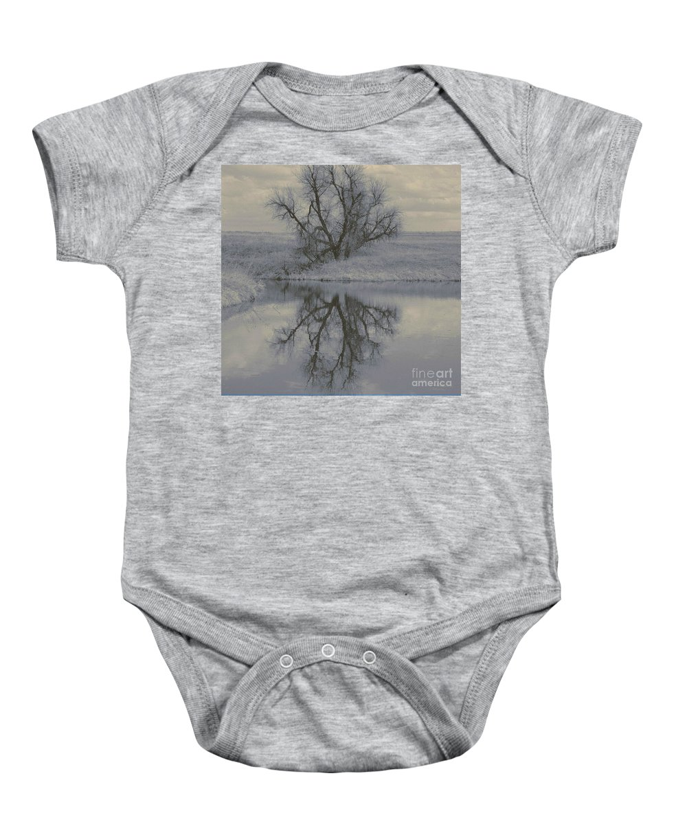 Tree Baby Onesie featuring the photograph Reflection by Brandi Maher