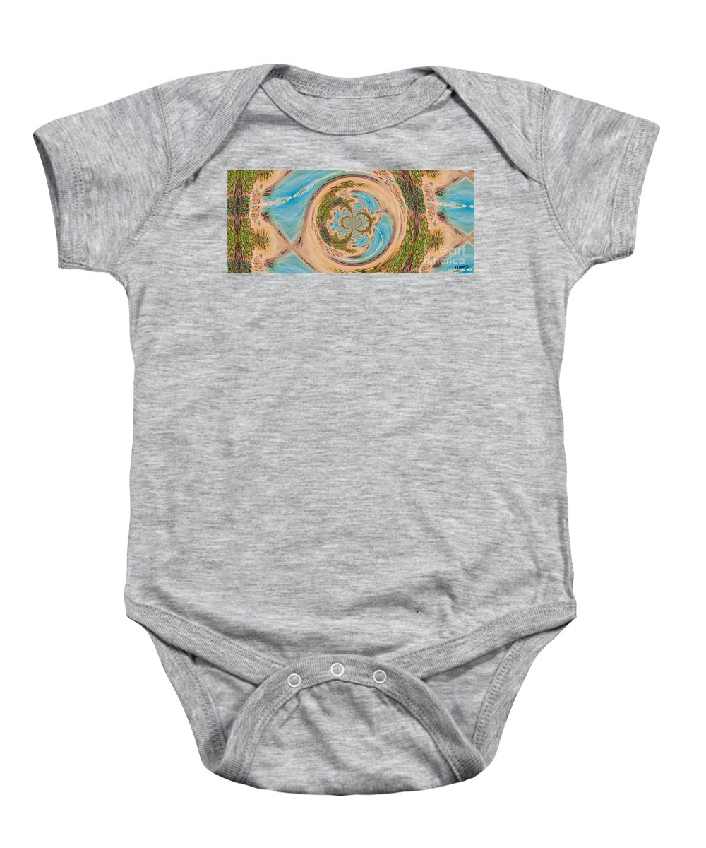 Abstract Baby Onesie featuring the painting Reflections by Loredana Messina