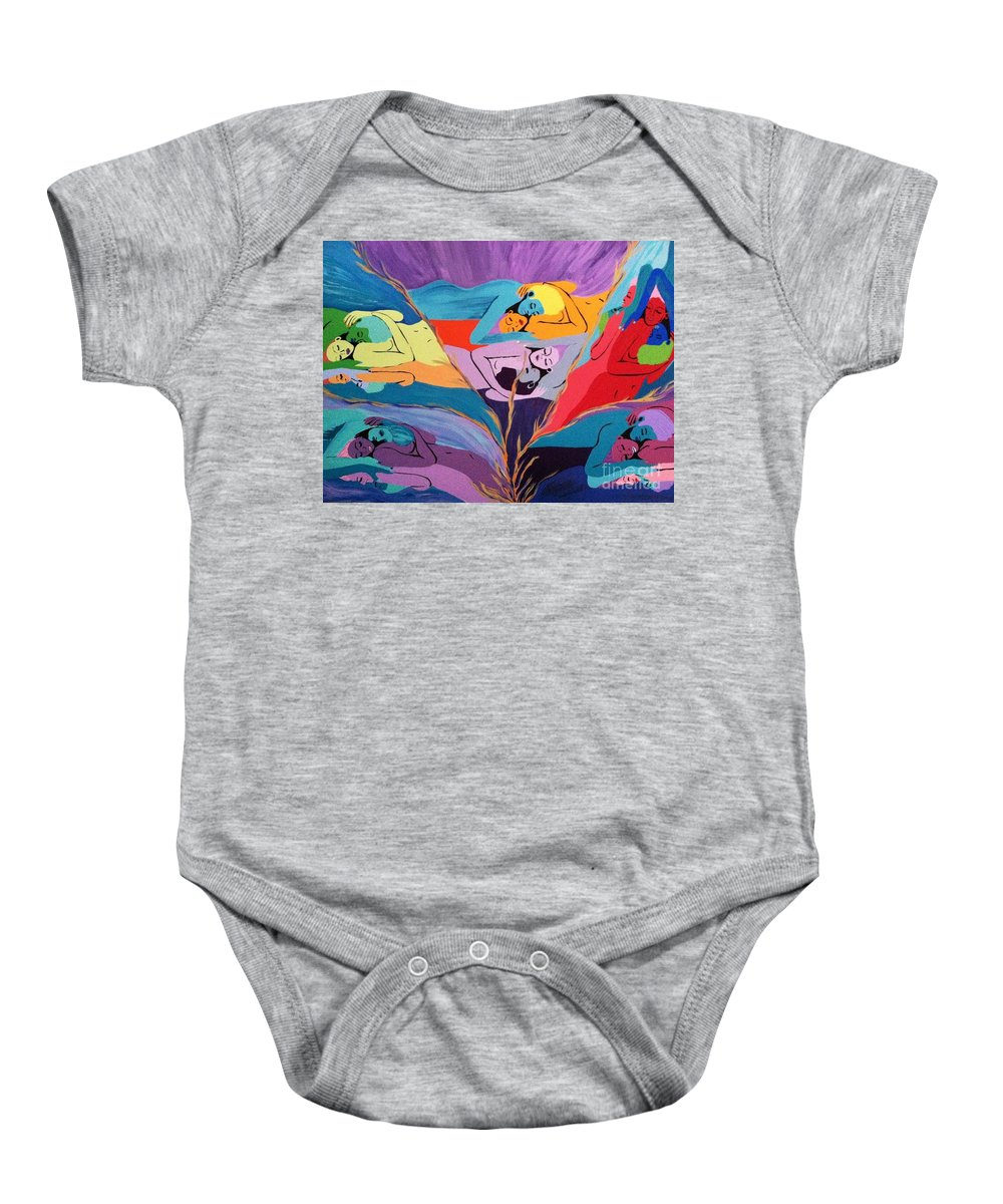 Aura Baby Onesie featuring the painting Reflections by Melissa Darnell Glowacki