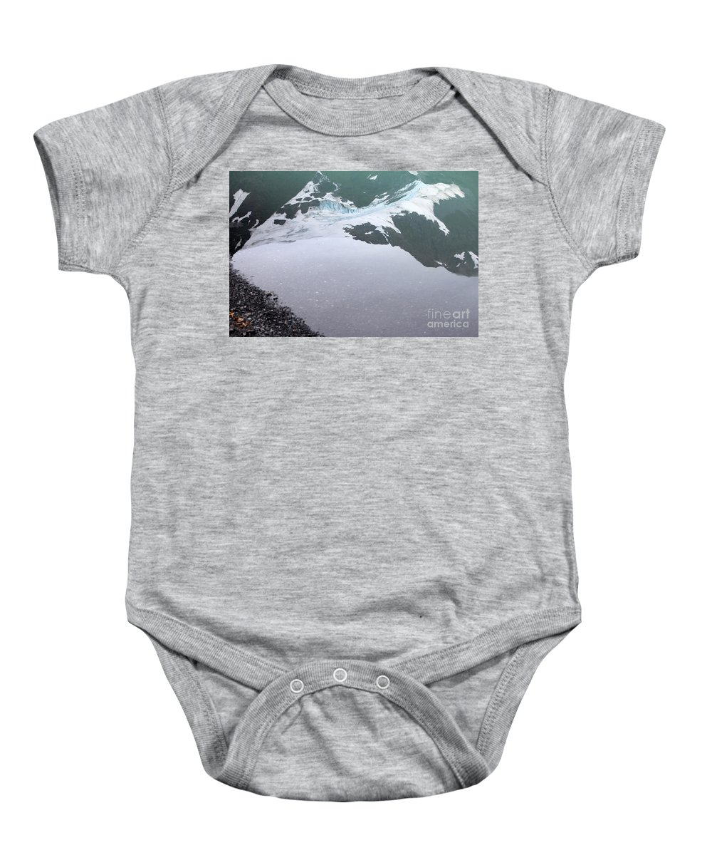 Glacier Baby Onesie featuring the photograph Reflections by Stacey May