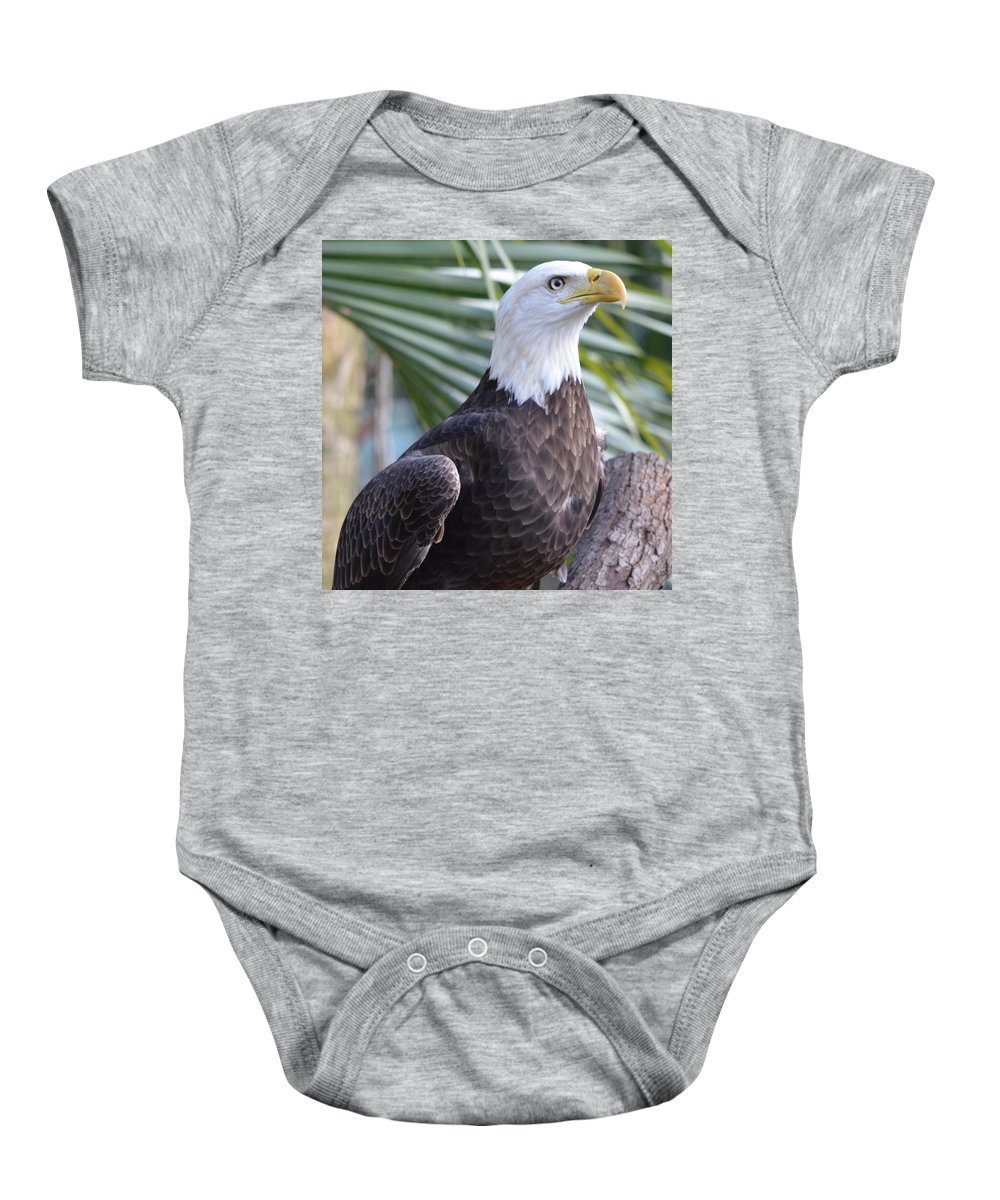 American Bald Eagle Baby Onesie featuring the photograph Regal Eagle by Richard Bryce and Family