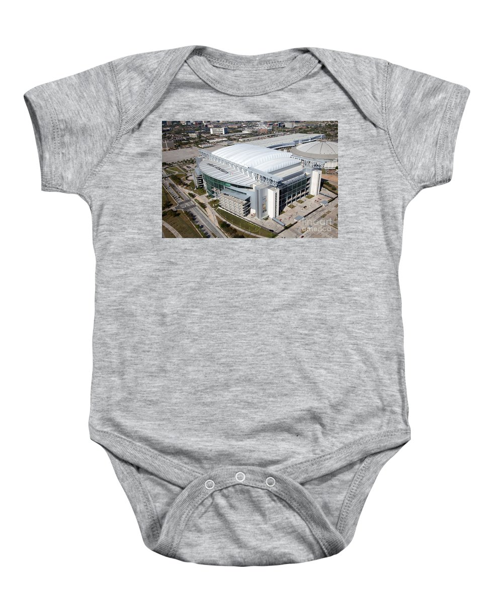 Houston Baby Onesie featuring the photograph Reliant Stadium In Houston by Bill Cobb
