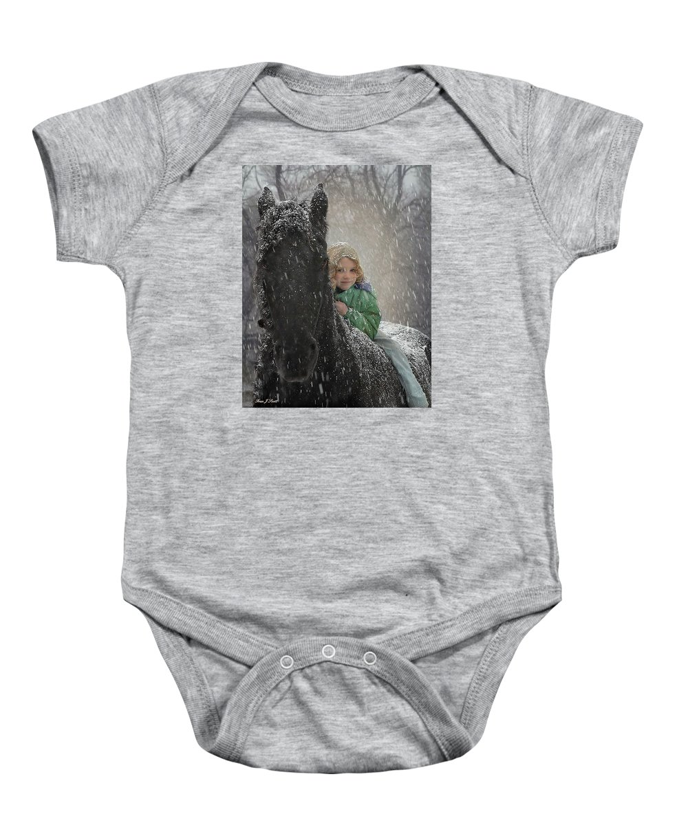 Friesian Baby Onesie featuring the photograph Remme And Rory by Fran J Scott
