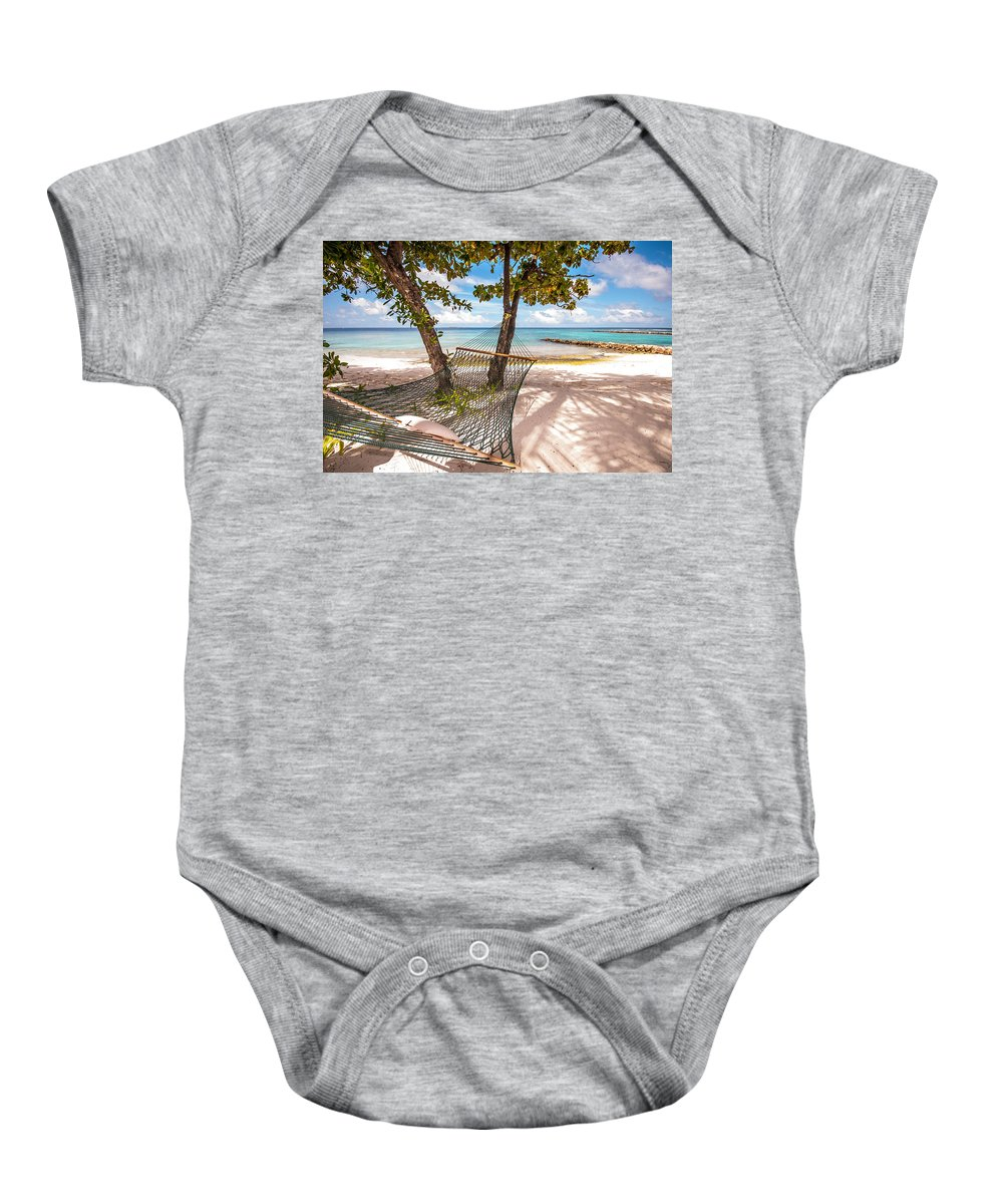 Tropical Baby Onesie featuring the photograph Rest In The Shadow by Jenny Rainbow