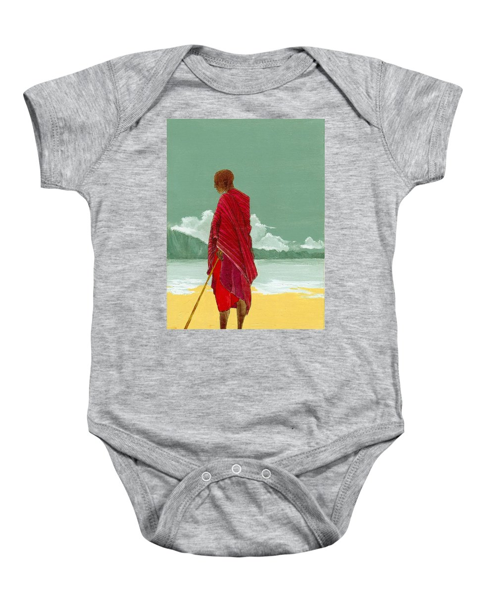 Figurative Painting Baby Onesie featuring the painting Reverence by Edith Peterson-Watson