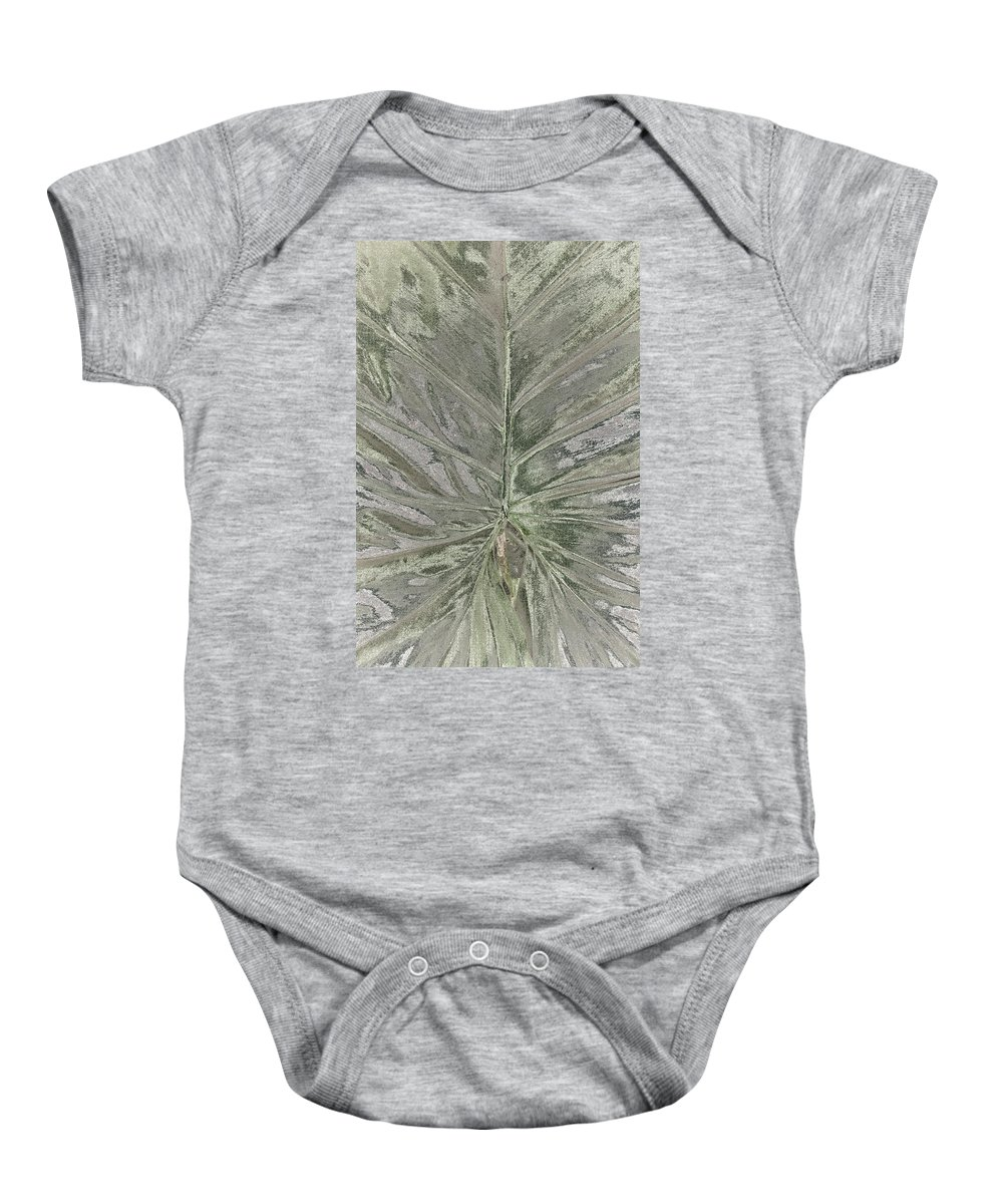 Leaf Baby Onesie featuring the photograph Rhododendron Leaf by Rudy Umans