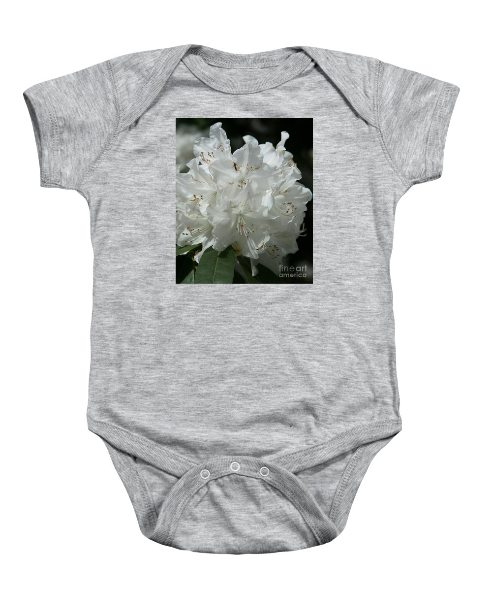Rhododendron Baby Onesie featuring the photograph Rhododendron Purity by Christiane Schulze Art And Photography
